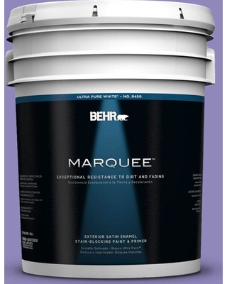 BEHR MARQUEE 5 gal. #630B-6 Butterfly Garden Satin Enamel Exterior Paint and Primer in One