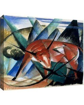 "ArtWall 'Red Bull' by Franz Marc Painting Print on Wrapped Canvas fmarc-038-14x18-w Size: 24"" H x 32"" W"