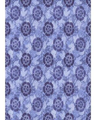 East Urban Home Diller Floral Wool Blue Area Rug W002212663 Rug Size: Rectangle 4' x 6'
