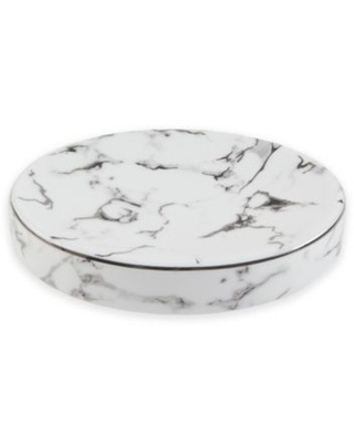 Marble Soap Dish in Silver