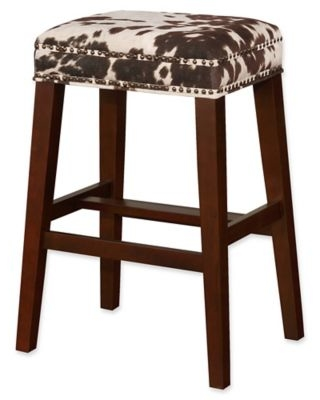 Brilliant Linon Home Linon Home Walt Cow Print Bar Stool In Brown From Bed Bath Beyond People Gmtry Best Dining Table And Chair Ideas Images Gmtryco