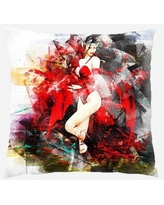 Rug Tycoon Girl Throw Pillow Synthetic, Size 18.0 H x 18.0 W x 3.0 D in   Wayfair PWO-girl-2506083