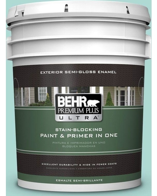 BEHR ULTRA 5 gal. #M450-3 Wave Top Semi-Gloss Enamel Exterior Paint and Primer in One