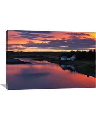 """Global Gallery 'White River' by Brin Ingibergsson-Bragi Photographic Print on Wrapped Canvas GCS-462133--142 Size: 24.1"""" H x 36"""" W x 1.5"""" D"""