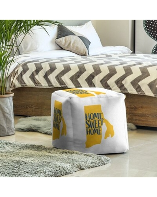 Home Sweet Rhode Island Cube Ottoman East Urban Home Upholstery Color: State Flag Colors