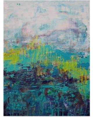 """Trademark Fine Art 'Ascension' Acrylic Painting Print on Wrapped Canvas ALI23092-C Size: 32"""" H x 24"""" W x 2"""" D"""