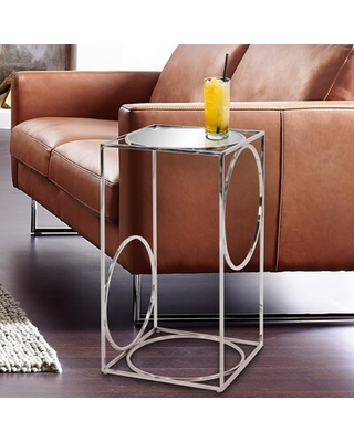 Swartwood Glass Top Frame End Table Everly Quinn