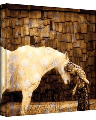 """ArtWall 'Horse Whisperer' by Elena Ray Painting Print on Wrapped Canvas ERay-034 Size: 24"""" H x 24"""" W"""