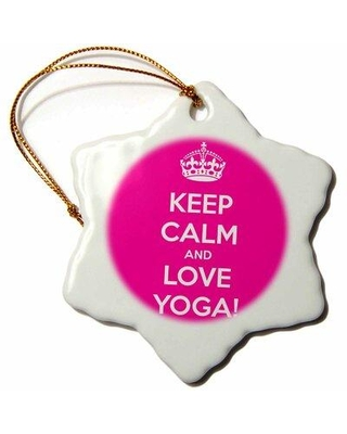 The Holiday Aisle Snowflake Ornament - Keep Calm And Love Yoga - 3-Inches W002638012