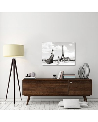 "'Trocadero View' Graphic Art Print on Canvas East Urban Home Size: 28.4"" H x 40"" W x 1.5"" D"