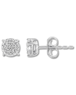 4dca24e8f Don't Miss This Deal: Diamond Earrings 1/10 ct tw Round-cut Sterling ...