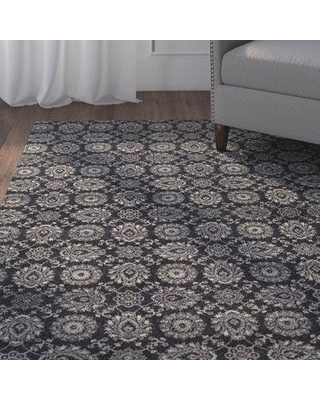 Charlton Home Cynthiana Navy/Gray Area Rug CHRL1066