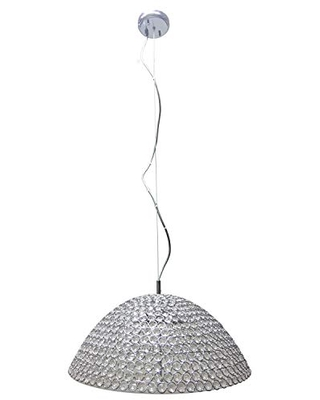 Decor Therapy CH1936 Lyla Dome Pendant Light, Chrome and Clear