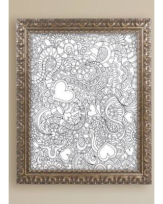 "Trademark Art ""Mixed Coloring Book 49"" by Kathy G. Ahrens Framed Graphic Art ALI3474-G1114F / ALI3474-G1620F Size: 20"" H x 16"" W x 0.5"" D"