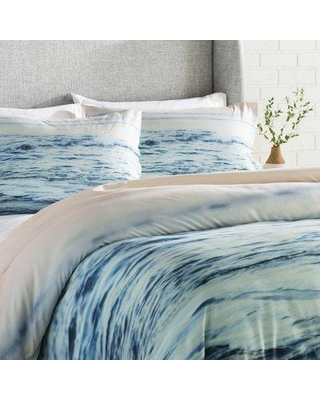 East Urban Home Pacific Ocean Waves Comforter Set Eahu7334 Size Full Queen