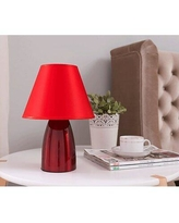 "House of Hampton Andresen 12"" Table Lamp W001725076 Finish: Red"