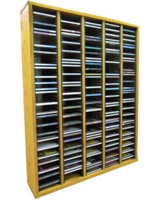 """Wood Shed Multimedia Storage Rack 509- Size: 26.88"""" H x 30.75"""" W x 6.75"""" D Color: Unfinished"""