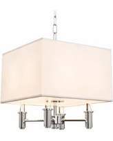 "DuPont 14"" Wide Chrome Convertible Square Pendant Light"
