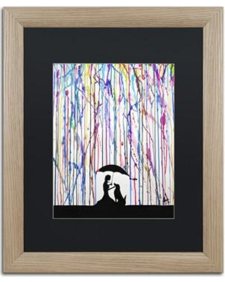 "Trademark Art 'Sempre' Matted Framed Painting Print on Canvas ALI2324-T1 Matte Color: Black Size: 20"" H x 16"" W x 0.5"" D"
