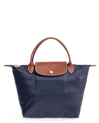 Longchamp Small Le Pliage Top Handle Tote - Blue