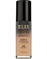 Milani Conceal + Perfect 2-in-1 Foundation 02 Natural 1floz