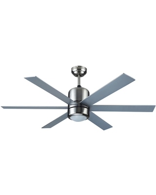 Design House Indus Sol 48 in. Indoor Satin Nickel Ceiling Fan with Light Kit