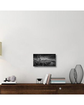 """East Urban Home 'Canale Grande' Photographic Print On Wrapped Canvas ERNH2803 Size: 12.32"""" H x 22"""" W x 1.5"""" D"""