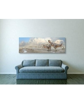 "Ebern Designs 'Brothers in Blood' Graphic Art Print on Wrapped Canvas BF005736 Size: 20"" H x 60"" W"