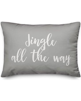 The Holiday Aisle Goodwater Jingle All the Way Lumbar Pillow W001064403 Color: Gray