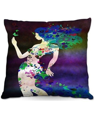 """East Urban Home Couch Wondrous Night 4 Throw Pillow X112750669 Color: Purple/Blue/Green Size: 18"""" x 18"""""""