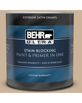 BEHR ULTRA 1 qt. #T17-03 Sepia Filter Satin Enamel Exterior Paint and Primer in One