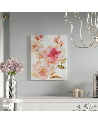 """House of Hampton 'Vivid Roses' Oil Painting Print on Wrapped Canvas BF006111 Size: 40"""" H x 30"""" W"""