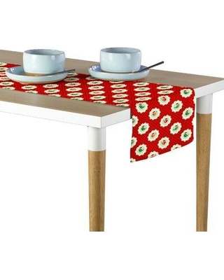 """The Holiday Aisle Lusk Christmas Bird Patches Table Runner W000451353 Size: 12"""" W x 72"""" L"""