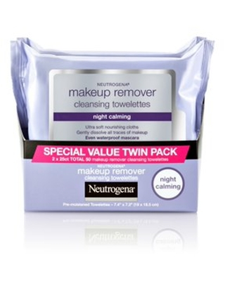 50 Count, Twin Pack Neutrogena Night Calming Makeup Remover Wipes