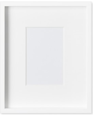 Hot Sale: White Lacquer Gallery Picture Frame, 4\