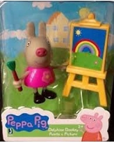 Peppa Pig Delphine Donkey Paints a Picture