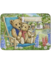 August Grove Justin Teddy Bears in Flowers Memory Foam Bath Rug AGGR6673