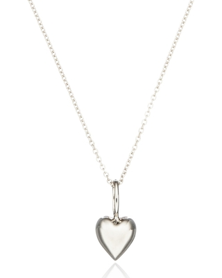 Lily & Roo - Solid sterling Silver Heart Charm Necklace