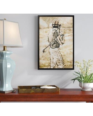 """Charlton Home 'The Jockey' Framed Painting Print on Wrapped Canvas W001678066 Size: 36"""" H x 24"""" W x 1.5"""" D"""