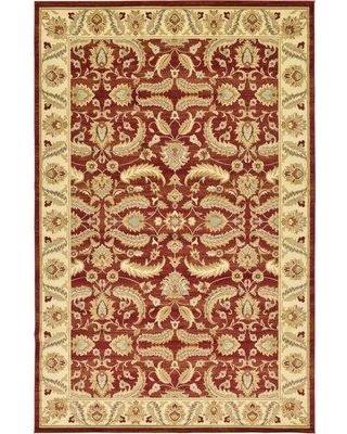 """Three Posts Fairmount Red Area Rug Rug Size: Rectangle 10'6"""" x 16'5"""""""