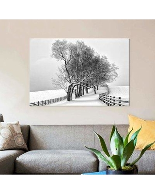 """East Urban Home 'Along the Lane I' Graphic Art Print on Canvas EBHU6149 Size: 26"""" H x 40"""" W x 0.75"""" D"""