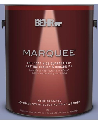 BEHR MARQUEE 1 gal. #S540-4 Vintage Ribbon One-Coat Hide Matte Interior Paint and Primer in One