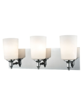 3 Light Vanity in Chrome and Opal Glass