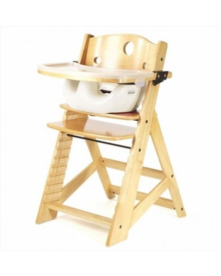 Keekaroo® Height Right High Chair Natural with Vanilla Infant Insert and Tray