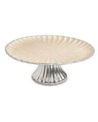 Find Deals On Peony Cake Stand Aluminum In Snow Size 4 H X 15 W X 15 D Wayfair 2760015