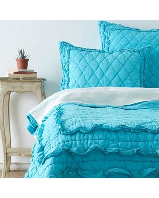 Amity Home Casey Quilt CC481T Size: Twin Color: Teal