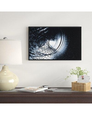 "East Urban Home '3D Abstract Art Black Spiral' Framed Graphic Art Print on Wrapped Canvas FSOI6350 Size: 14"" H x 22"" W x 1"" D"