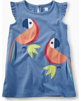 Tea Collection Parrot Graphic Baby Dress