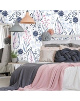 """Bungalow Rose Himmelmann Removable Nursery Vintage Wild Berries 10' L x 25"""" W Peel and Stick Wallpaper Roll BF182655"""