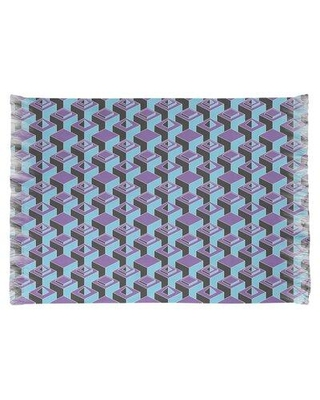 East Urban Home Skyscrapers Purple/Blue Area Rug W000389181 Non-Skid Pad Included: Yes